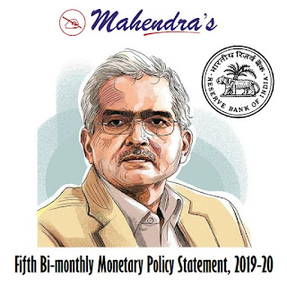 Fifth Bi-monthly Monetary Policy Statement, 2019-20