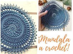 Patrón de  Mandala fantasía a crochet