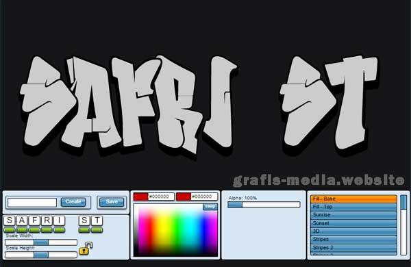 website akan menunjukkan tutorial desain goresan pena yang keren Cara Praktis Membuat Tulisan Graffiti Online