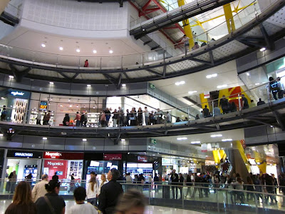 Inside Las Arenas shopping mall