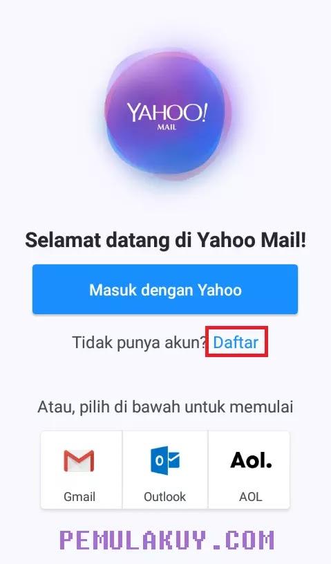 Cara Membuat Email Yahoo Lewat Aplikasi Yahoo