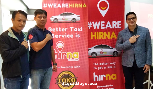 hirna bacolod - taxi hailing app - taxi operators of negros occidental