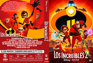 The Incredibles 2 - Los Increibles 2 - cover dvd