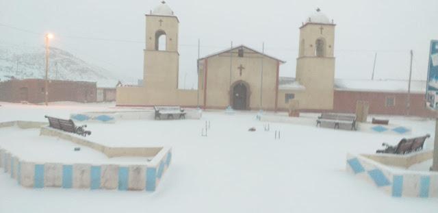 Die Pfarrkirche von San Pablo de Lipez Bolivien