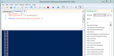 bash copy in powershell with robocopy