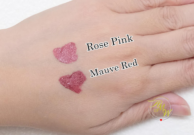 a swatch photo of K-Palette Lasting Matte Liptint Review in shades Rose and Red by Nikki Tiu of askmewhats.com