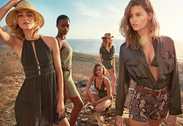 vestidos short H&M verano