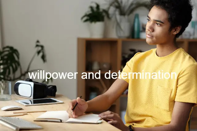willpower and determination