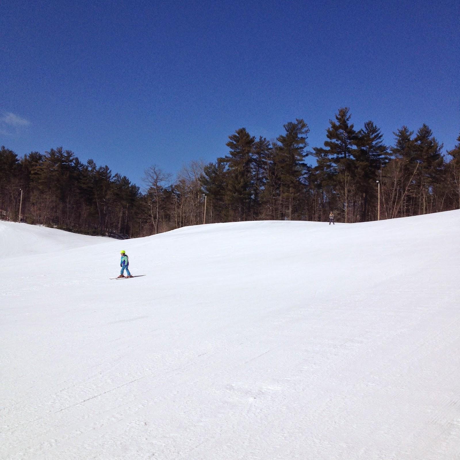 Pee when skiing