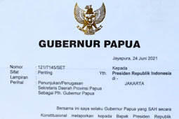 Beredar Surat Bantahan Lukas Enembe Atas Penujukkan Yulian Flassy Sebagai Plh Gubernur Papua
