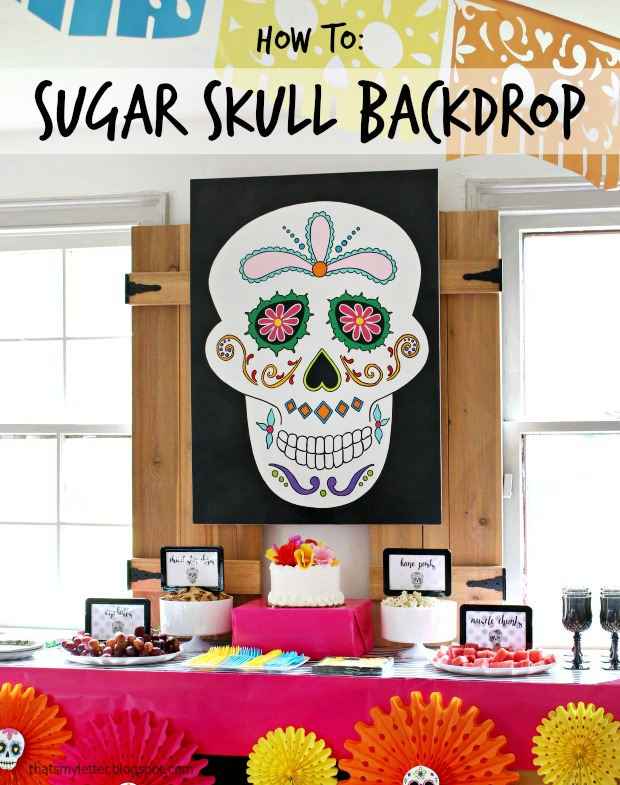 how to paint a sugar skull backdrop