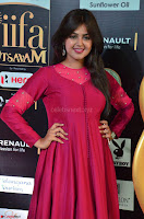 Monal Gajjar in Maroon Gown Stunning Cute Beauty at IIFA Utsavam Awards 2017 019.JPG