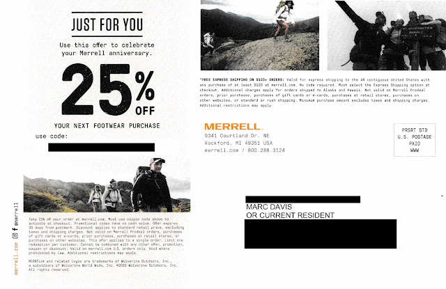 Merrell One Year Discount Offer - 25% Off