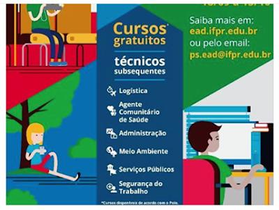 Ilha Comprida e Instituto Federal do Paraná abrem inscrições para cursos técnicos