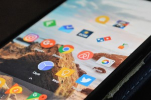 A selection of mobile apps on the Android operating system