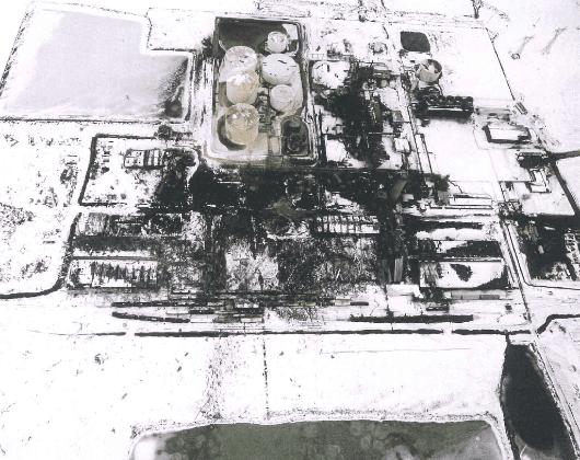 Fotografia aérea explosão port neal