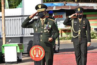 Danrem 174 Merauke Pimpin Ziarah Nasional Dalam Rangka HUT Ke-76 TNI