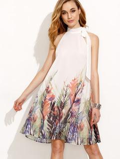 Imágenes Tendencias Moda Mujer Instagram Primavera Verano vestido estampado flores hojas palmeras