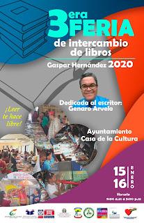 Feria Intercambio de libros Gaspar Hernández