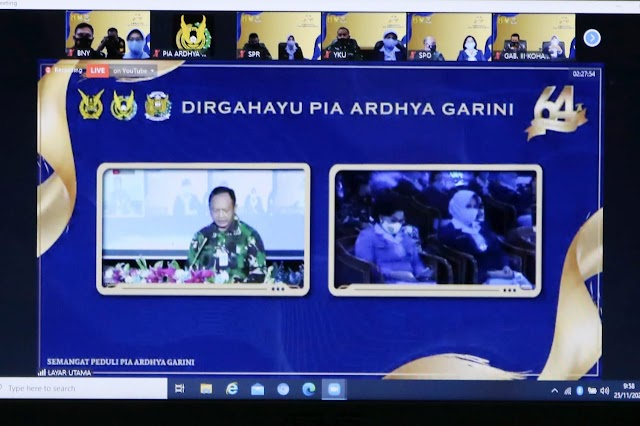 Organisasi PIA Ardhya Garini Lakukan HUT Ke-64 Secara Virtual