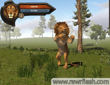 Jogos de simulação, ação, aventura, 3D: Simulador de Leão