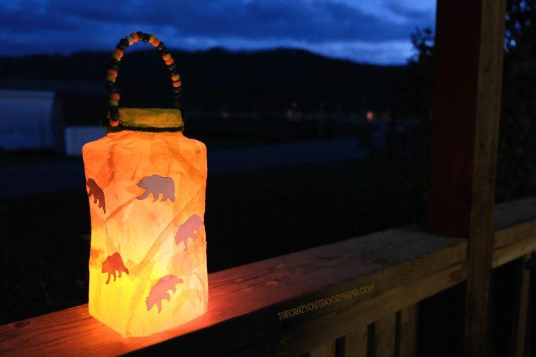 diy camping lantern craft  - summer camp craft for kids