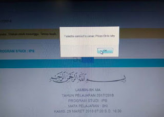 Cara Mengatasi Failed To Conect To Server Press Ok To Try di Clent UAMBNBK