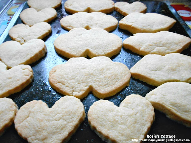 Scottish shortbread cookies fresh from the oven