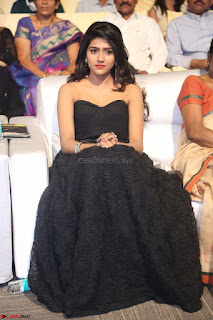 Actress Monica in spicy transparent Black Top at O Pilla Nee Valla Movie Audio Launch Feb 2017 004.JPG