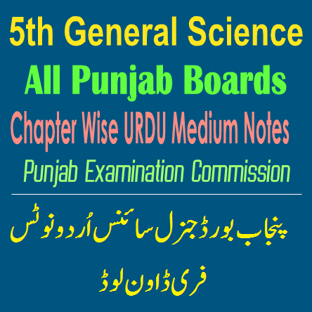 5th Punjab Board General Science Notes