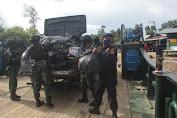 Ribuan Miras Hasil Tangkapan Satgas Pamtas Kostrad Diserahkan Ke KPP Bea Cukai Nunukan