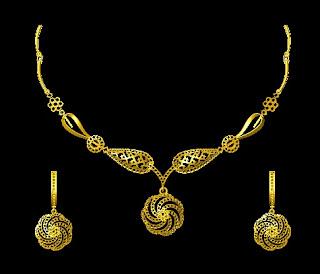 Gold necklace set design images