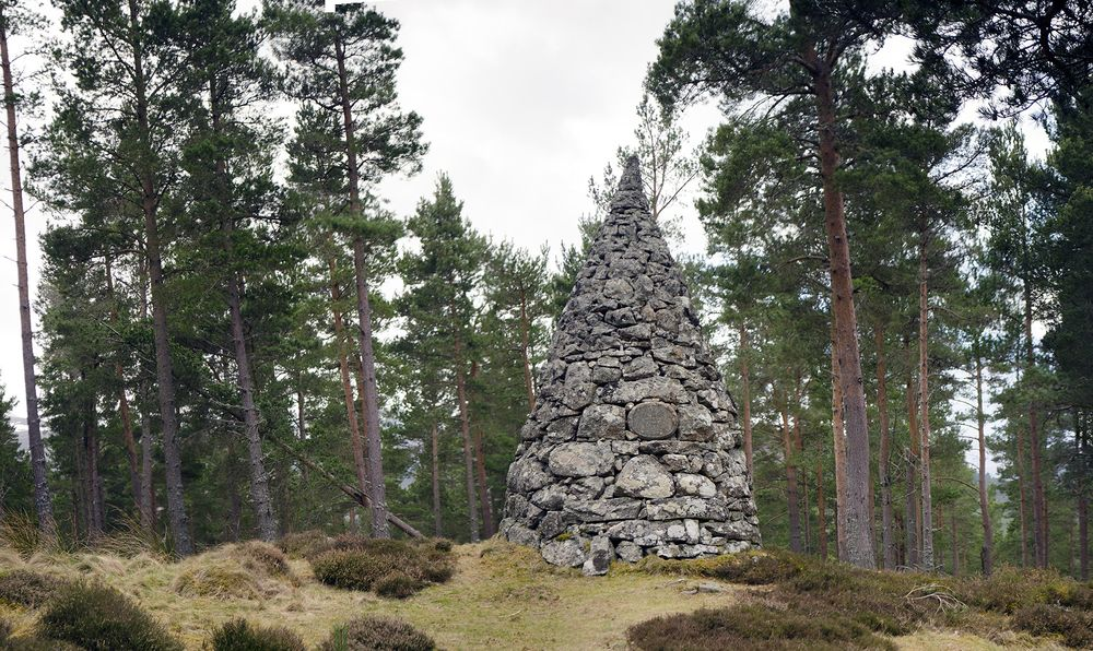 The cairn dedicated to Princess Alice's marriage