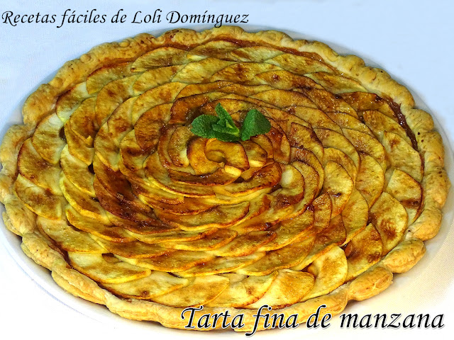 Tarta Fina De Manzana (en Hojaldre) - Recetas Fáciles De Loli Domínguez