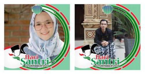 Kumpulan Bingkai Foto Profil Hari Santri Nasional 22 Oktober 2019 3