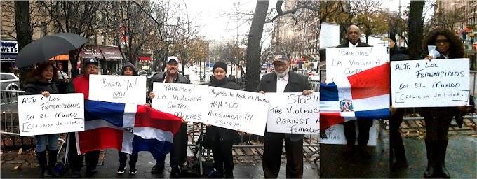 Activistas dominicanos llaman al cese de femenicidios en RD y el mundo durante vigilia en el Alto Manhattan