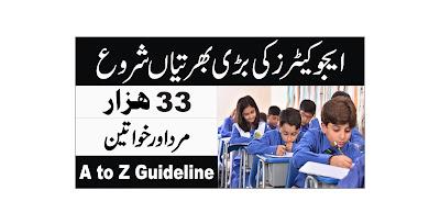 Punjab Educators Jobs 2021 - Government Jobs 2021