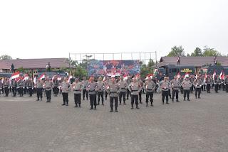 Kapolda Jambi Jadi Inspektur Upacara Gelar Pasukan Brimob Dan Pimpin Ikrar Brimob Nusantara