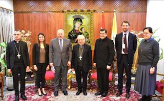 البطريرك ساكو يلتقي فريق التحقيق الأممي لتعزيز المساءلة عن جرائم داعش