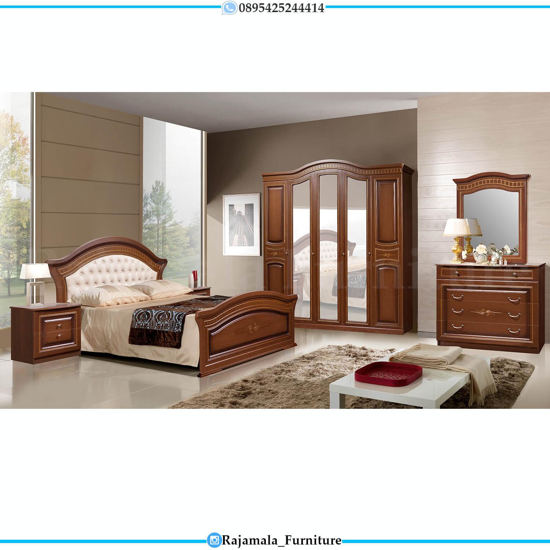 Classic Natural Color Tempat Tidur Minimalis Jati Terbaru Furniture Jepara Luxury RM-0444