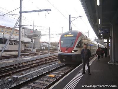 Kereta api di Swiss
