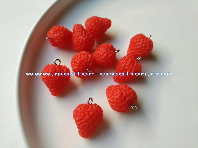 simulated strawberry pendant