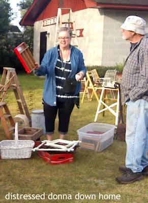 vintage market, thrift finds, vintage finds, ladders, mirrors, dresser