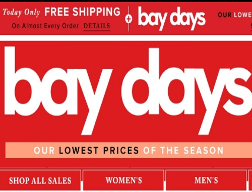 Hudson's Bay Bay Days + Free Shipping