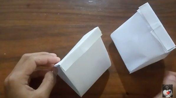Origami paperbag lucu dari kertas A4