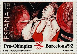PRE-OLÍMPICA BARCELONA 92. HALTEROFILIA