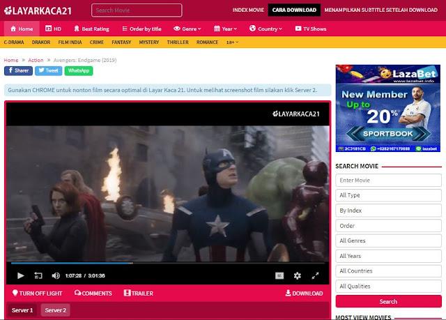 Daftar Situs Nonton Film Streaming Gratis Terbaik 4