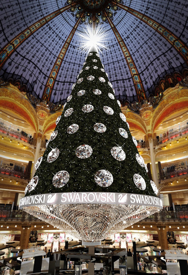 Swarovski Crystal Christmas Tree Paris