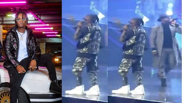 Laycon reveals why he wore 'oversized' shoe to Headies Awards (Video)