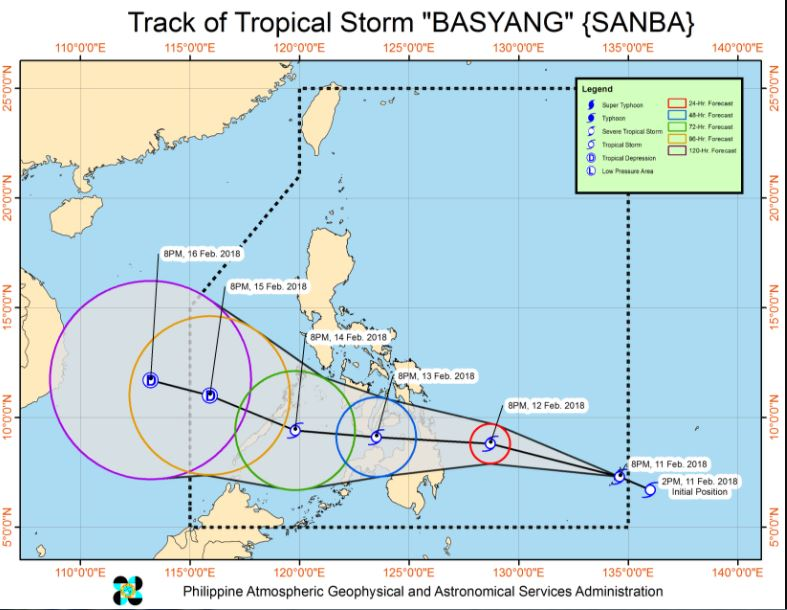 track of Bagyong Basyang